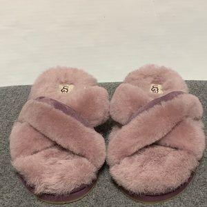 NEW UGG Purple Suede Sandal Slide Slipper 7